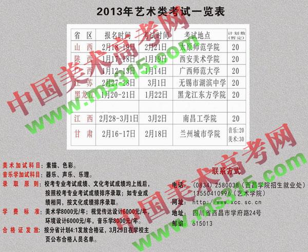 西昌学院2013年艺术类招生简章(1).jpg
