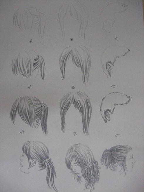 头发画法配图版