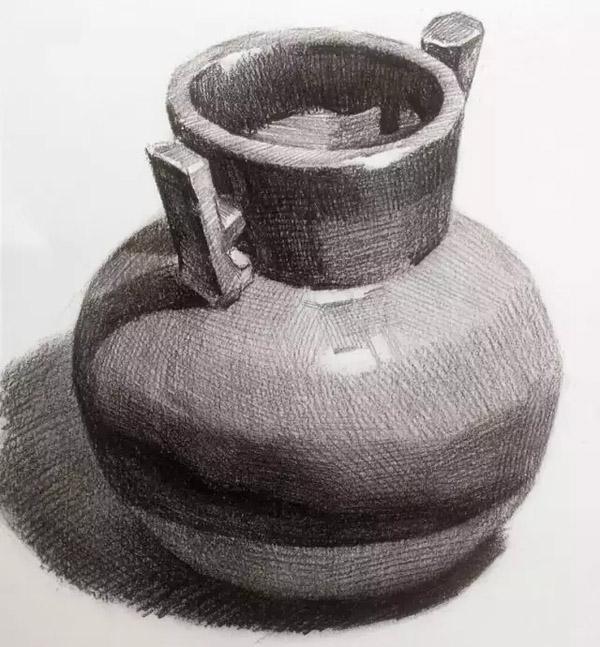 素描陶罐的画法,陶罐临摹范本
